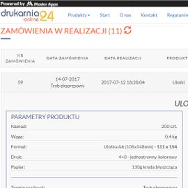 Drukarnia-Online24 - Dokładky Wgląd w Zamówienia