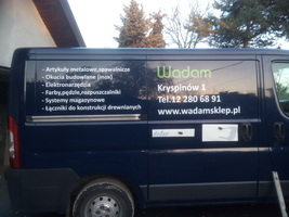 Oklejanie samochodu typu VAN